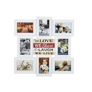 "20.5"" ""We Love, We Share"" 8-Opening Photo Frame Wall Collage"