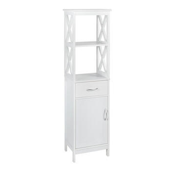 "60.25"" White 1-Drawer/1-Cabinet X-Sided Towel Tower view 1"