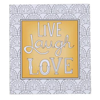 "8""x9"" ""Live Laugh Love"" Color-It Sign"