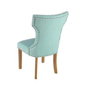 "38.5"" Tufted Parson's Chair with Nailheads view 2"