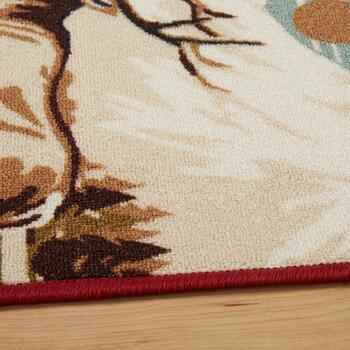 5'x7' Lodge Animal Grid Area Rug view 2