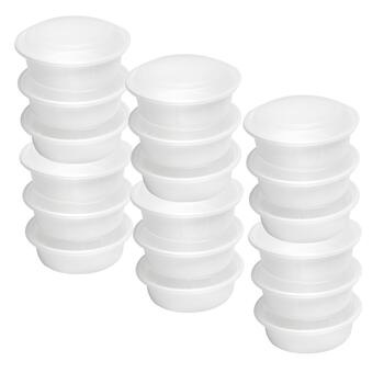 6-Pack White 32-oz. Disposable Covered Containers, Set of 3