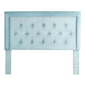 Kat Velvet Tufted Queen Headboard