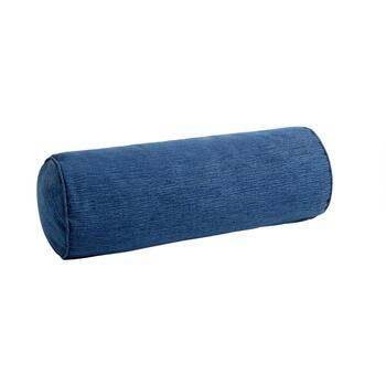 Coastal Living Seascapes™ Solid Blue Indoor/Outdoor Lumbar Roll Pillow