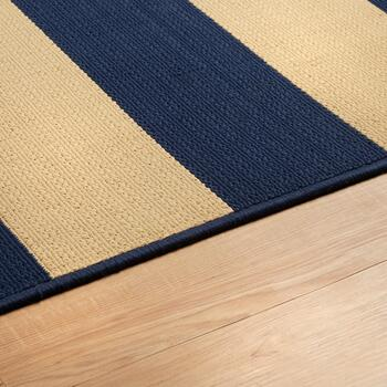 "6'6""x9'6"" Navy/Ivory Cabana All-Weather Area Rug view 2"