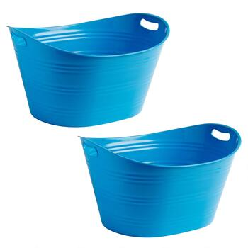 Plastic Colored Beverage Tubs, Set of 2