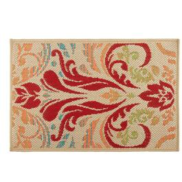 Large Damask Pattern All-Weather Area Rug