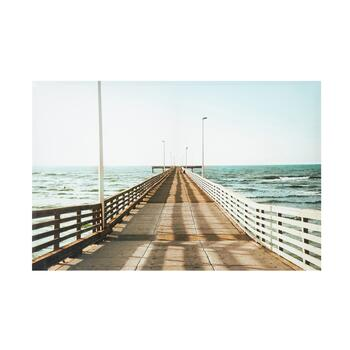 "24""x36"" Pier Photograph Canvas Wall Art"