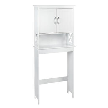 "63.25"" White 2-Door Space Saver Storage Cabinet view 1"