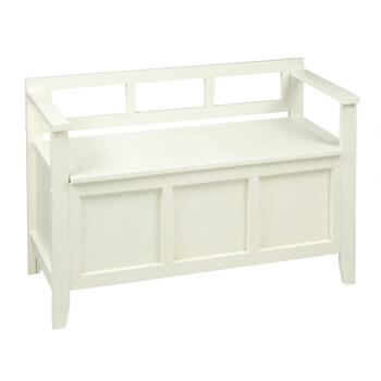 Awe Inspiring White Mission Style Storage Bench Gmtry Best Dining Table And Chair Ideas Images Gmtryco