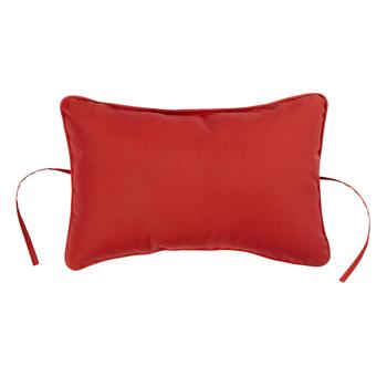 Solid Red Indoor/Outdoor Headrest Pillow