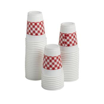 48-Count Red Gingham Plastic Cups