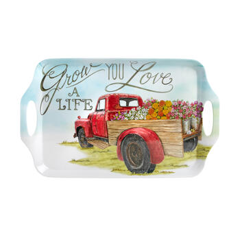 """Grow a Life You Love"" Flower Truck Melamine Tray view 2"