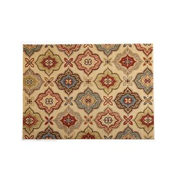 Multicolor Geometric Floral Area Rug
