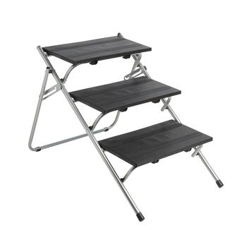 Black 3-Steps Folding Pet Stairs and Ramp