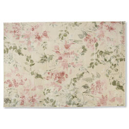 Petal and Stone™ Pink Flower Area Rug view 1
