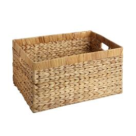 Water Hyacinth Arrow Rectangular Woven Basket