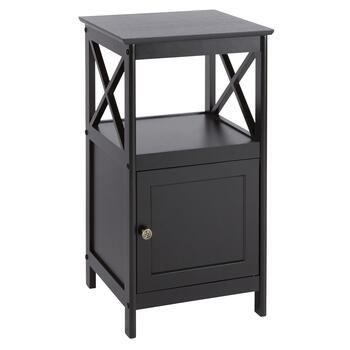 Milan Black 1-Door X-Sided Cabinet