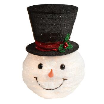 Lighted Top Hat Snowman Tree Topper