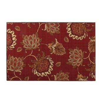 "52""x79"" Burgundy Flowers Area Rug"