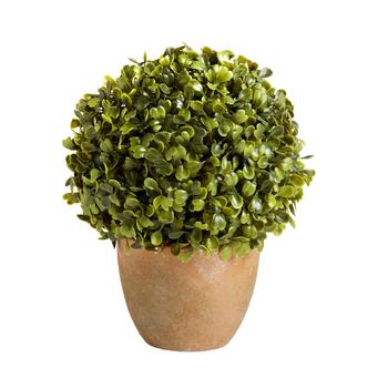 The Grainhouse™ Artificial Potted Boxwood Topiary Plant