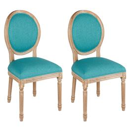 King Louis Linen-Style Dining Chairs, Set of 2