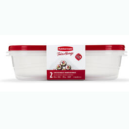 Rubbermaid® TakeAlongs® 2-Count Large Rectangle Food Containers with Lids view 1