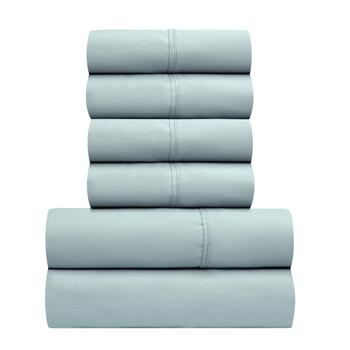 Solid 800-Thread Count Cotton Blend Sheet Set, 6-Piece