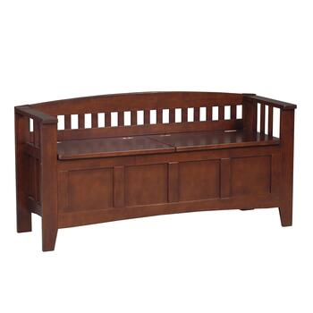 Walnut Split Seat Storage Bench - Christmas Tree Shops and That!