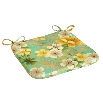 Orange Lily Indoor/Outdoor Squared Seat Pad