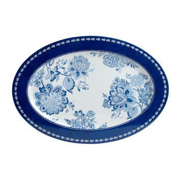 Waverly® Blue/White Floral Melamine Serving Platter view 2