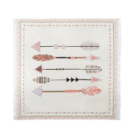 "60"" 5 Arrows Fringe Tapestry Throw"
