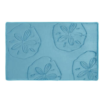"20""x32"" Sand Dollars Sculpted Memory Foam Bath Mat view 1"