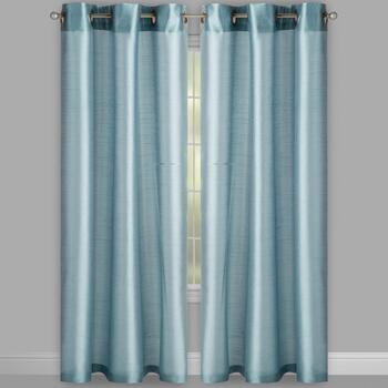 "84"" Faux Silk Grommet Window Curtains, Set of 4 view 2"