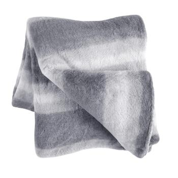 Ombre Faux Fur Throw Blanket