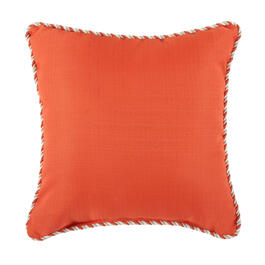 Waverly® Coral Rope Trim Indoor/Outdoor Square Throw Pillow view 1