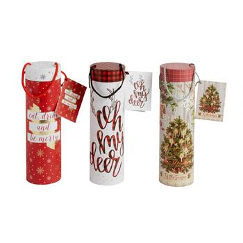 """Oh My Dear"" and Christmas Tree Gift Tubes, 3-Pack"