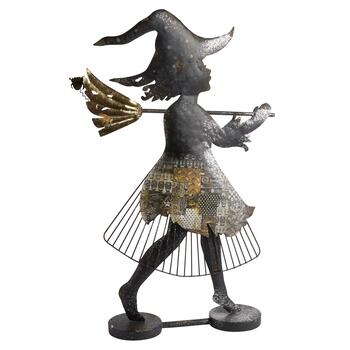 "31.5"" Fairy Witch Standing Metal Decor"