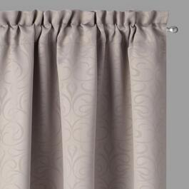 Embossed Scroll Blackout Window Curtains, Set of 2