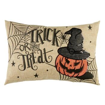 Oblong Trick or Treat Pillow