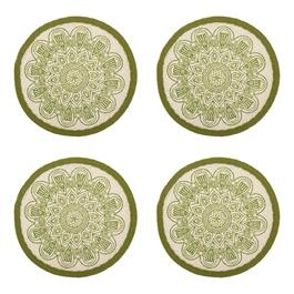 "The Grainhouse™ 15"" Round Medallion Placemats, Set of 4"