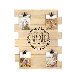 "The Grainhouse™ 16""x20"" ""Truly Blessed"" Photo Clip Wood Plank Wall Decor"