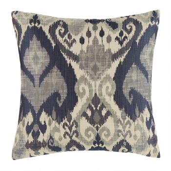 Blue Wither Feather-Fill Square Pillow
