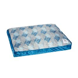 Blue Tile Print Pet Bed