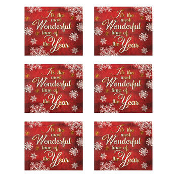 """Most Wonderful Time of Year"" Tab Box Gift Card Holders, Set of 6 view 1"