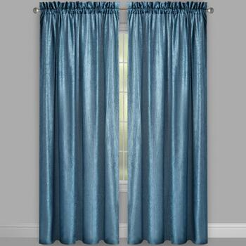 Crushed Silkanza Window Curtains, Set of 2 view 2