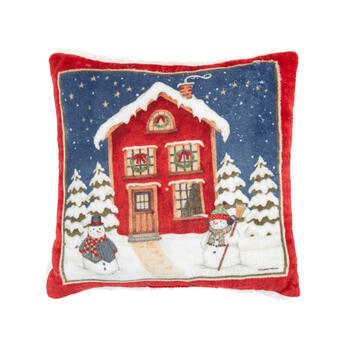 Debbie Mum® Holiday Home Square Throw Pillow view 1
