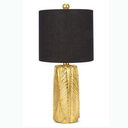 "20"" Poly Gold Palm Table Lamp view 1"