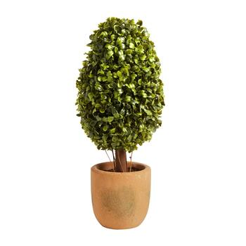 "The Grainhouse™ 15.25"" Artificial Potted Topiary Cone Tree"