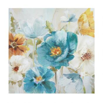 "30"" Blue/Yellow/White Flowers Canvas Wall Art"